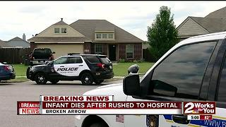 Infant dies after being rushed to hospital