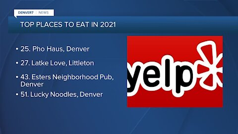 Yelp lists top 100 places to eat in 2021