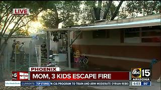 Mom, three kids escape Phoenix fire - Video