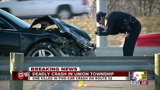 Deadly five-vehicle crash in Union Township