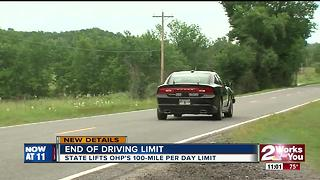 State lifts Oklahoma Highway Patrol driving limit - Video