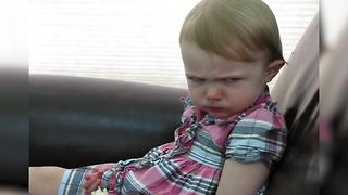 Angry Toddler Gives Mom 'Evil Look' - Video