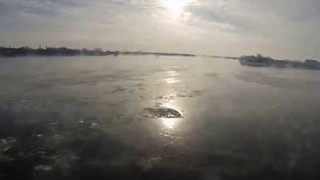 Drone Footage Shows Ice Fog in Montreal - Video