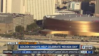 Vegas Golden Knights and local fans help celebrate Nevada Day - Video