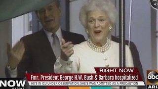 Former President George H.W. Bush and Barbara Bush hospitalized - Video