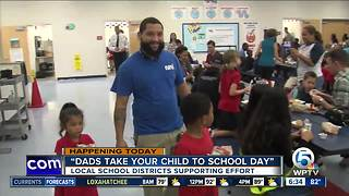 Florida schools celebrate 'Dads Take Your Child to School Day'