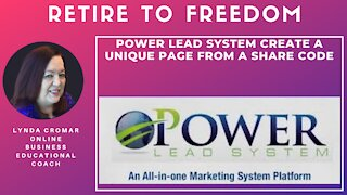 Power Lead System Create A Unique Page From A Share Code