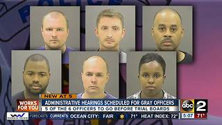 Administrative hearings scheduled for officers involved in Freddie Gray case - Video