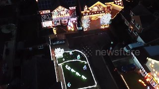 Magical Christmas light display of 'Britain's most festive street'