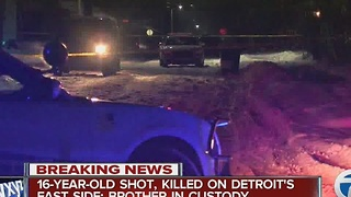 16-year-old shot, killed by brother on Detroit's east side - Video