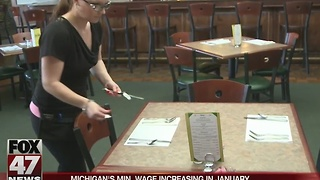 Minimum wage to increase in Michigan for new year - Video