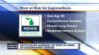 Cases of Legionnaires' disease up 26 percent in state since 2017 - Video