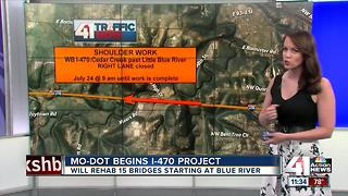Bridge work begins on I-470 - Video