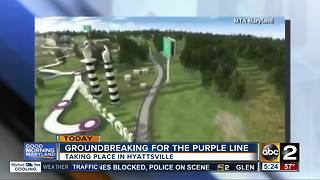 Groundbreaking for Purple Line - Video