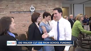 PolitiFact Wisconsin: Walker's public schools funding - Video
