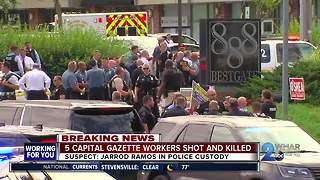 ANNAPOLIS SHOOTING: 5 dead, multiple injuries at Capital Gazette offices - Video