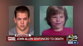 Phoenix man gets death sentence in death of girl in box - Video