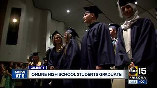 Online high school holds unique in person graduation - Video