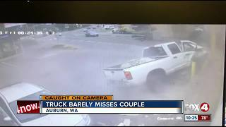 Driver slams truck into donut shop - Video