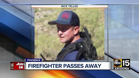 Phoenix firefighter passes away after fight with cancer