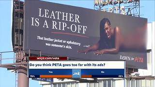 PETA posts controversial anti-leather billboard in Detroit - Video