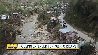 Judge orders to extend housing for Puerto Rican evacuees - Video