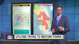 Utilities trying to restore power across Tampa Bay Area - Video