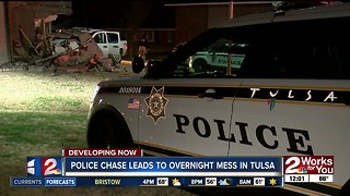 Truck leaves huge hole in Tulsa apartment building