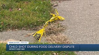 Child shot during food delivery dispute