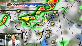 Showers & Storms Return to Maryland