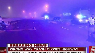 Crash Closes I-40 East In Downtown Nashville - Video