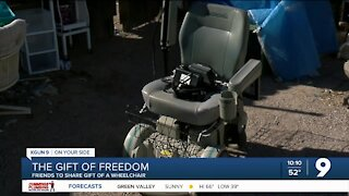 Donated wheelchair ready to help someone new