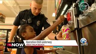 Operation Chill: West Palm Beach police offer kids free Slurpees on a hot day - Video