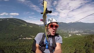 A ride on the longest and fastest zipline on earth - Video
