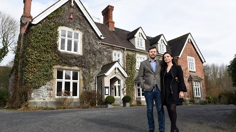 High-flying couple give up jobs to buy historic hotel after spending one night there as guests