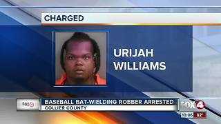 Baseball Bat-Wielding Robber Arrested - Video