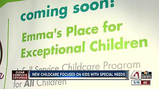 New childcare focuses on kids with special needs - Video