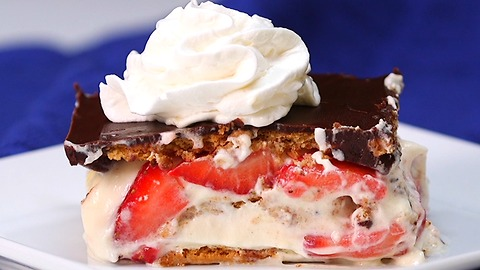 Strawberry Eclair Dessert