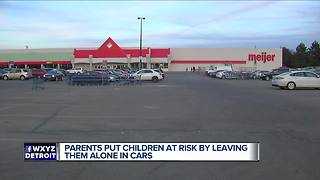 Sterling Heights police report two incidents of children left in cars - Video