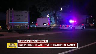 Police investigate suspicious death in West Tampa - Video