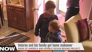 Veteran and family get home makerover - Video