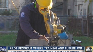 Pilot program offers job training in Baltimore - Video