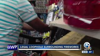 Legal loophole surrounding fireworks - Video