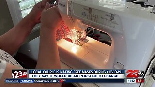 Local Couple Makes over 400 Masks
