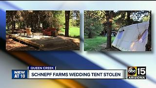 Tent stolen from Schnepf Farms - Video