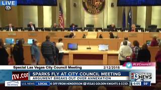 Sparks fly at city council meeting over annexation - Video