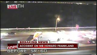 Accident on WB Howard Frankland - Video