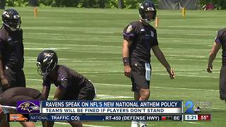 Ravens coach issues statement about NFL anthem policy - Video