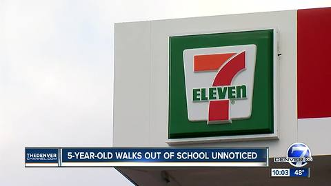 Five year old walks out of school unnoticed