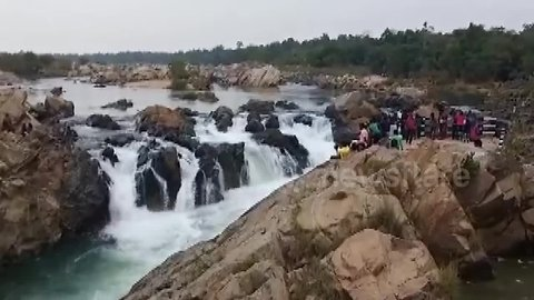 Boy falls into raging waterfall while taking selfie in east India state